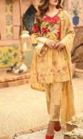Premium Embroidered Lawn Shirt Embroidered Bamber Chiffon Dupatta Dyed Embroidered Trouser