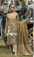 -Jacquard Heavy Embroidered Front. -Jacquard Dupatta -Jamawaar Trouser.