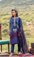 .Printed Embroidered Cambric Shirt. .Chiffon Printed Dupatta. .Cambric Trouser