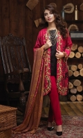 -Un-Stitched 3pc Jacquard Cambric Embroidered Shirt , Printed Chiffon Dupatta & Cambric Trouser.