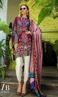 Digitally printed front on LINEN: 1.20m Digitally printed back on LINEN: 1.20m Digitally printed sleeves on LINEN: 0.65m Printed Dupatta on LINEN: 2.5m