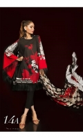 Printed shirt on Lawn Fabric with Blend Chiffon dupatta.