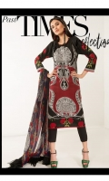 Printed shirt on Lawn Fabric with blend chiffon printed dupatta.