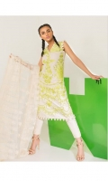 Embriodered shirt front on Lawn Fabric with Indian embriodered net dupatta.
