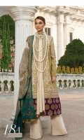 Gold printed shirt on lawn fabric with blend chiffon gold printed dupatta.