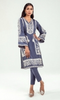 This luxurious shirt with embroidery all over exudes grace. For some added flair it is enhanced with beautiful lace and striped patti detailing