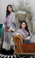 Woven front: 1.25m Woven back: 1.25m Woven sleeves: 0.75m Embroidered neck on lawn. Printed borders: 3m Dyed cotton pants: 2.5m Digitally Printed tissue silk Dupatta : 2.5m Fabric Lining: 2.5m