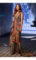 This ensemble is a delightful jigsaw puzzle of digital print in rich jewel tones, resham floral motifs, and tilla embroidery that come together seamlessly.