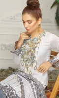 Digital Printed Embroidered Lawn Shirt Printed Chiffon Dupatta Dyed Trouser