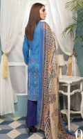 Digital Printed Lawn Shirt With Embroidery Printed Chiffon Dupatta Dyed Trouser