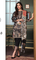 3 Mtr: Digital Printed Khadar Shirt with Embroidered Front.  Digital Printed Patch. Digital Printed Wool Shawl. Embroidered Lace. 2.5 Mtr: Khadar Trouser.
