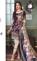 3 Mtr: Digital Printed Khadar Shirt with Embroidered Front.  Digital Printed Patch. Digital Printed Wool Shawl. Embroidered Lace. 2.5 Mtr: Khadar Trouser.