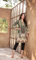 Digital Printed Khaddar Shirt with Embroidered Lace.  3 MTR SHIRT.