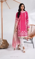 Printed Textured Lawn Shirt and Printed Fine Voile Dupatta.