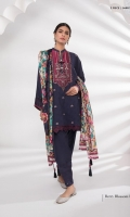 Dyed Embroidered Self Jacquard Shirt Front Dyed Self Jacquard Shirt Back & Sleeves Embroidered Blended Satin Border Embroidered Blended Satin Neckline Embroidered Patti Digital Printed Broche Jacquard Dupatta