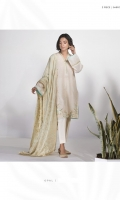 Dyed Embroidered Dobby Shirt and Dyed Extra Weft Jacquard Dupatta.