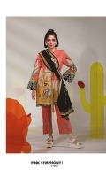 Digital Printed Fine Lawn Shirt, Dyed Cotton Trouser and Digital Printed Fine Voile Dupatta.