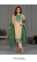 Embroidered Shabnam Zari Net Shirt Dobby Organza Dupatta Dyed Viscose Raw Silk Trouser