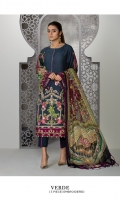 Dyed Embroidered Self Jacquard Shirt Front Digital Printed Pure Crinkle Chiffon Dupatta Dyed Cotton Trouser