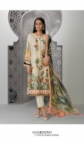 Dyed Embroidered Fine Lawn Shirt Front Digital Printed Viscose Chiffon Dupatta Dyed Cotton Trouser