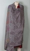 Kashmiri Pashmina Wool Printed Veving Shawl
