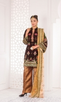 Embroidered Velvet Front Embroidered Velvet Back Embroidered Velvet Sleeves Embroidered Zari Dupatta Jamawar Trouser