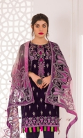 Embroidered Velvet Front Embroidered Velvet Back Embroidered Velvet Sleeves Embroidered Net Dupatta Raw Silk Trouser