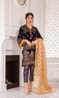 Embroidered Velvet Front Embroidered Velvet Back Embroidered Velvet Sleeves Jamawar Shawl Jamawar Trouser