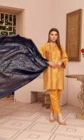 Banarsi Khaddar Shirt Broshia Dupatta with Plain Trouser