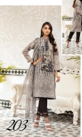 Embroidered Shirt Digital Printed chiffon Dupatta Dyed Trouser