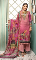 Embroidered Kotail Shirt Embroidered Chiffon Dupatta Dyed Trouser