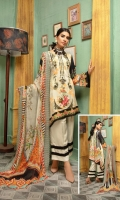 Digital Printed Viscose with Embroidered Necline Digital Printed Back & Printed Sleeves Embroidered Chiffon Duppata Dyed Trouser