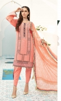 Embroidered Swiss Shirt Embroidered Chiffon Dupatta Dyed Trouser