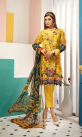 Embroidered Shirt Digital Chiffon Dupatta Banarsi Trouser