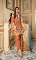 Digital Printed Viscose Shirt Stilinsh Chiffon Dupatta Dyed Bottom