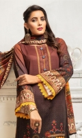 Embroidered Linen Shirt Printed Jacquard Dupatta Dyed Trouser