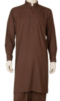 100% Cotton Fancy Kurta Shalwar Suit with Embroidered Collar