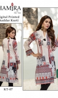 Unstitched Digital Printed Khaddar Shirt