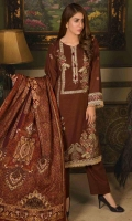 embroidered khaddar unstitched 3pc suit