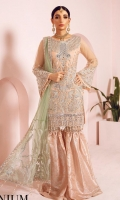 embroidered net unstitched 3pc suit