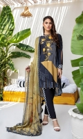 Embroidered Digital Printed Linen Shirt Digital Printed Bember Chiffon Dupatta Dyed Trouser