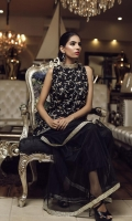 Embroidered Net Stitched 3 Piece Suit
