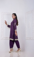 Masoori Cotton Khadi Shirt and Shalwar With Net Dupatta , Completey Detailed Hand Embroidery Work Sequin & Zari/Tila. Enhanced with Gota and Zari Lace and Stitched To Perfection