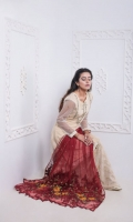 Old is gold. This tTraditional Short Shirt with Hijar Pants is an Ode to Perfection. The Shirt is Furthermore Enhanced with Intricate Embroidered Neckline, and Boti. It Comes with Beautifully Embroiderd Hijar Pants and Heavily Embroidered Net Dupatta