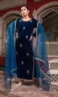 Luxury Pret Velvet 3 Piece Suit