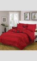 Bed N Bag Comforter Set 1 Comforter (Jacqaurd Fabric) 1 Dyed Bed Sheet Set (T180 PC / 50% POLYETER 50% COTTON) 2 Pillow Covers (T180 PC / 50% POLYETER 50% COTTON)