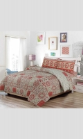 Duvet Set (T120 - 100% Cotton) Double: 1 Duvet Cover & 2 pillow covers