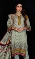 Shirt: Khaddar Dupatta: Digital Acrylic Shawl Trouser: Dyed Khaddar