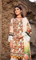 Shirt: Chikankari Linen Dupatta: Twill Shawl Trouser: Dyed Linen