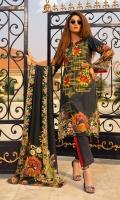 3 Meters Shirt + sleeves 2.5 Meter Dupatta 2.5 Meter Trouser Shirt: Cotray Linen Dupatta: Cotray Linen Shawl Trouser: Dyed Linen Trouser